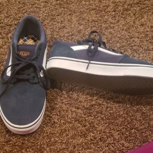 Brand new Navy blue suede Vans